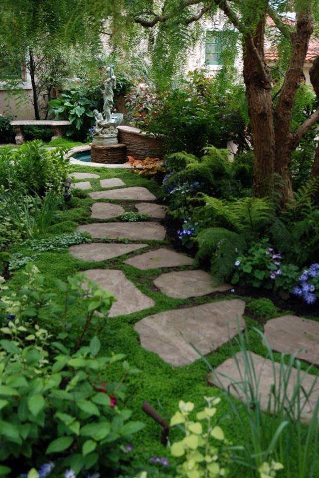 Beautiful Stone Path around Flowers 14