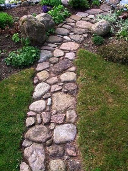 Beautiful Stone Path around Flowers 2