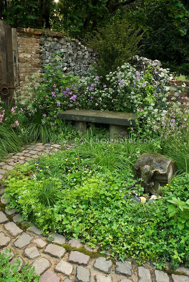 Beautiful Stone Path around Flowers 20