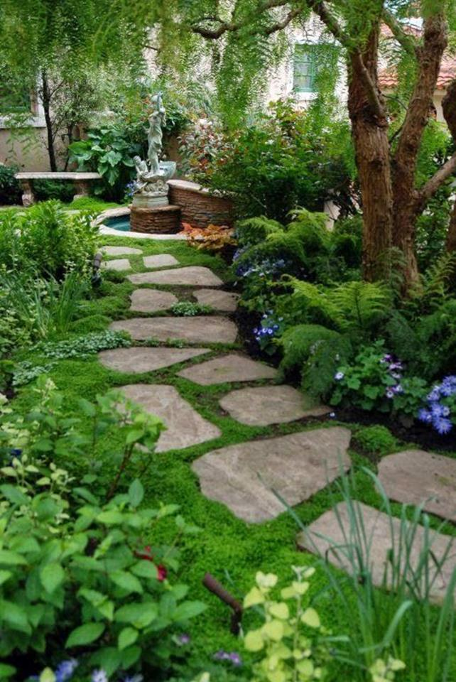 Beautiful Stone Path around Flowers 26