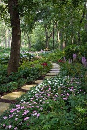 Beautiful Stone Path around Flowers 27