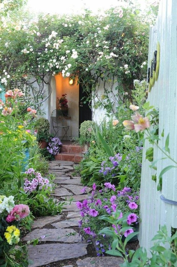 Beautiful Stone Path around Flowers 28