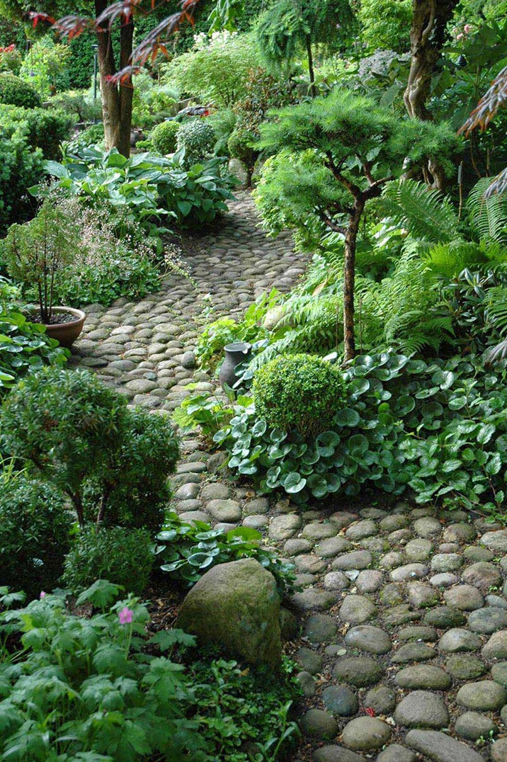 Beautiful Stone Path around Flowers 32