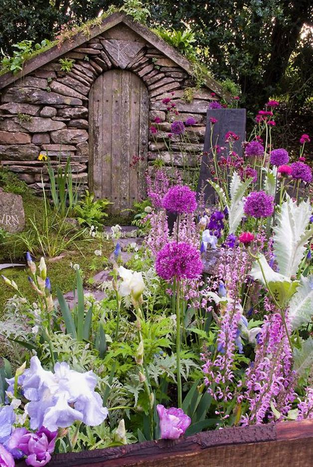 Beautiful Stone Path around Flowers 37