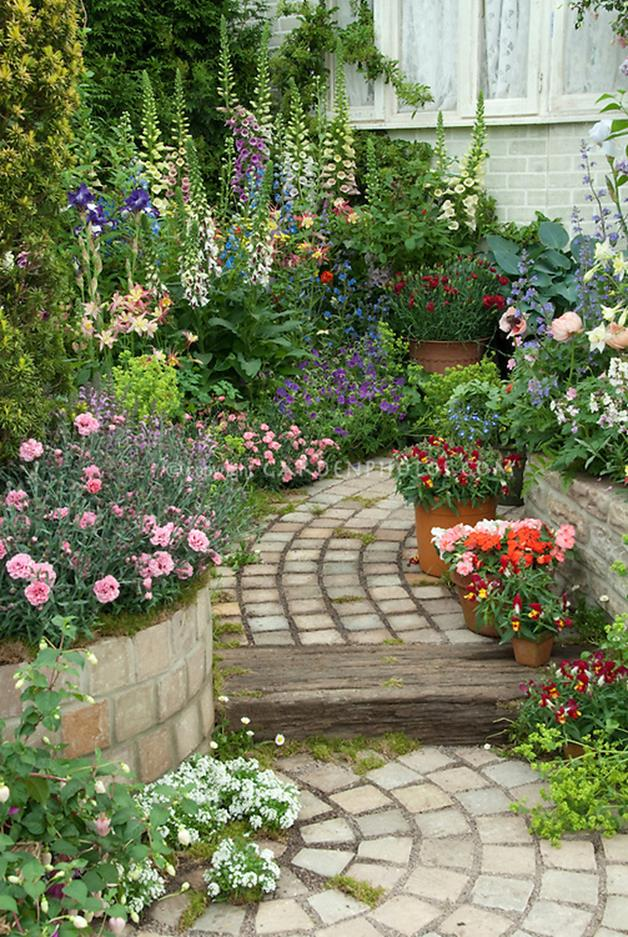 Beautiful Stone Path around Flowers 40