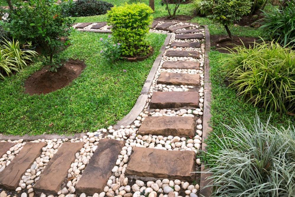 Beautiful Stone Path around Flowers 8