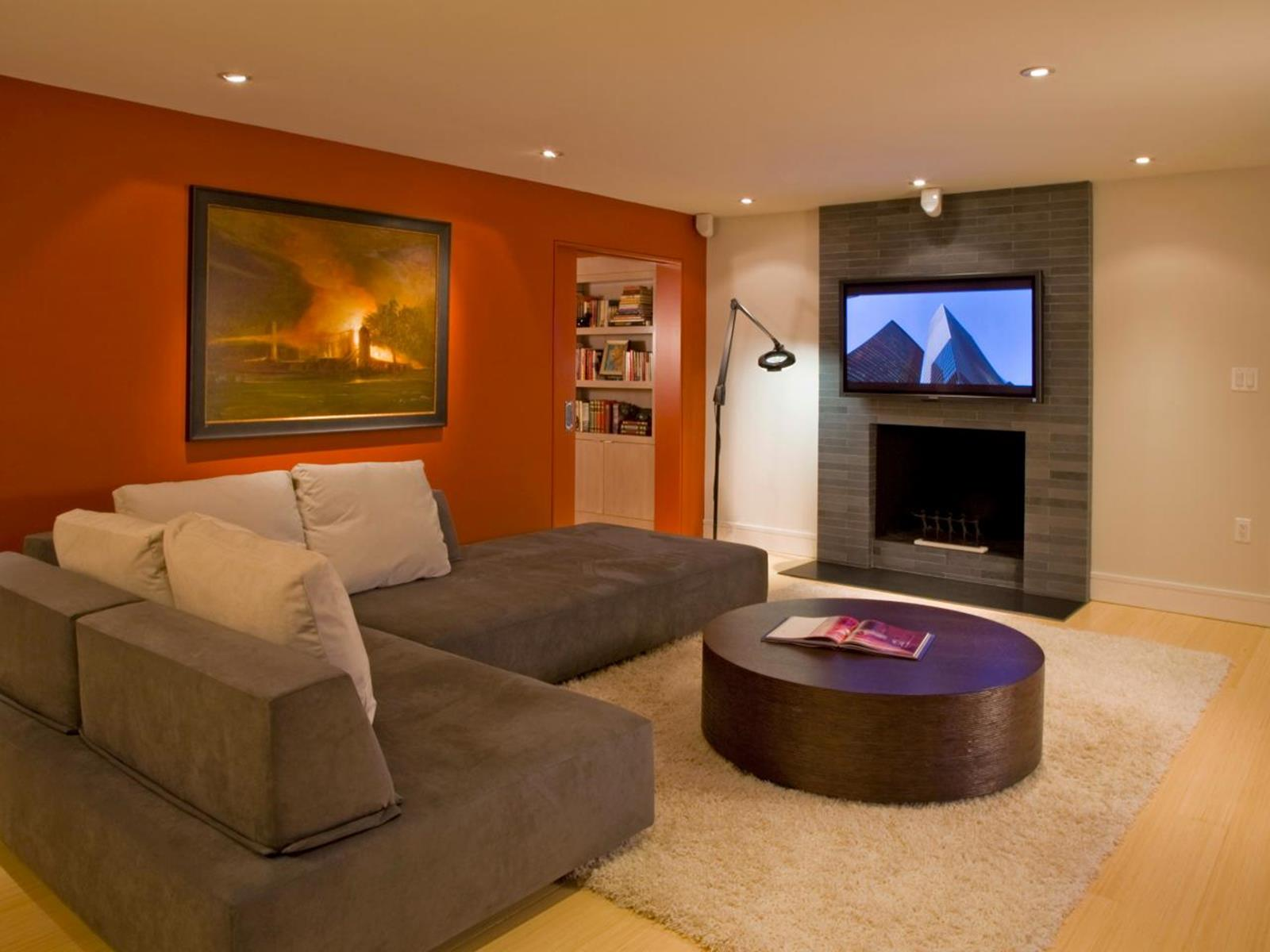 Living Room Accent Wall Color Combinations 22