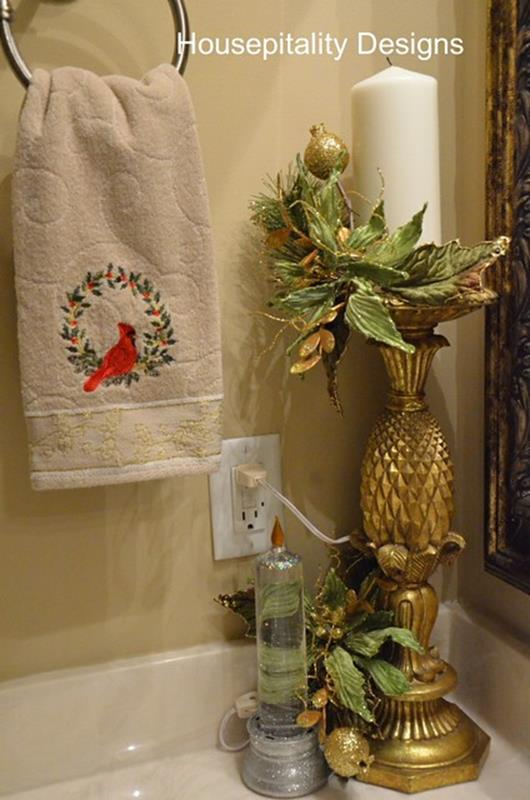 Bathroom with Holiday Wall Decor 11