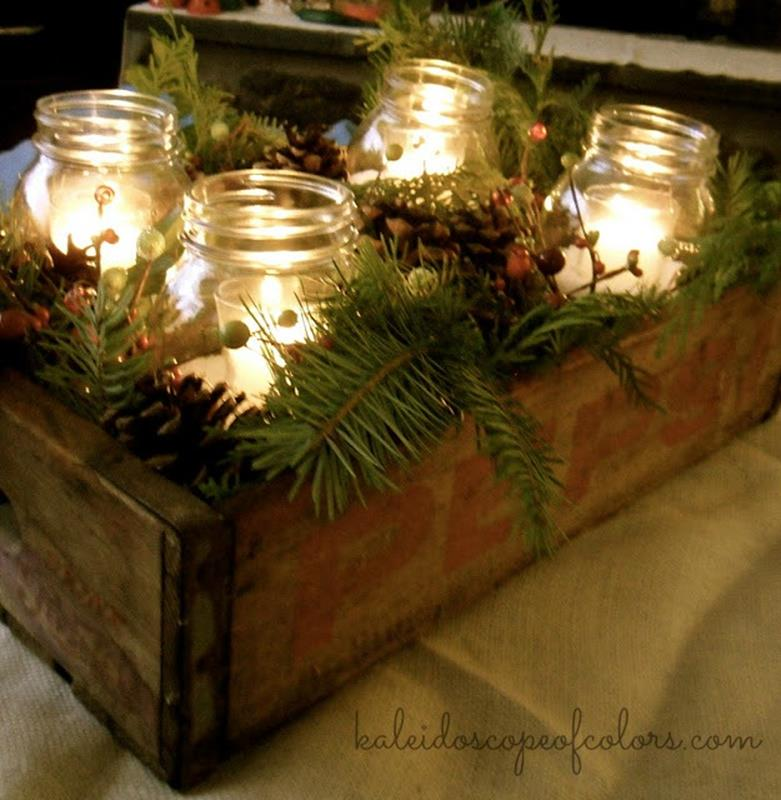 Winter Rustic Centerpieces 11