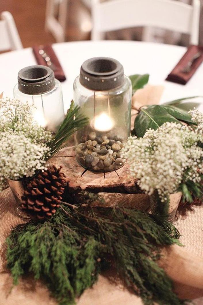 Winter Rustic Centerpieces 3