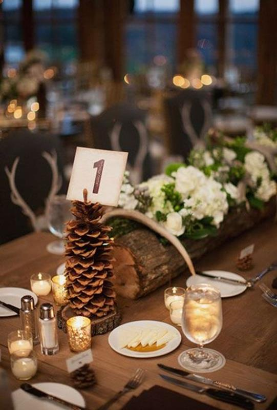 Winter Rustic Centerpieces 4