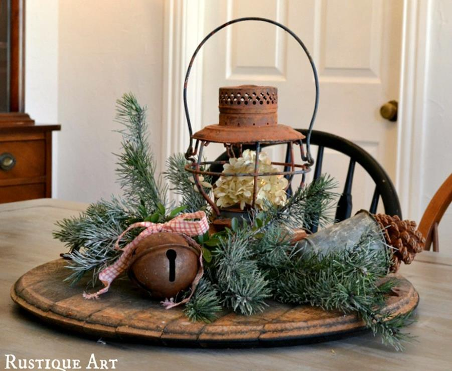 Winter Rustic Centerpieces 6