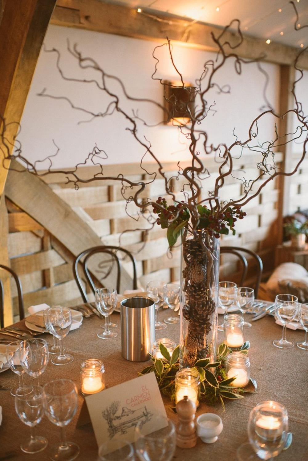 Winter Rustic Centerpieces 8