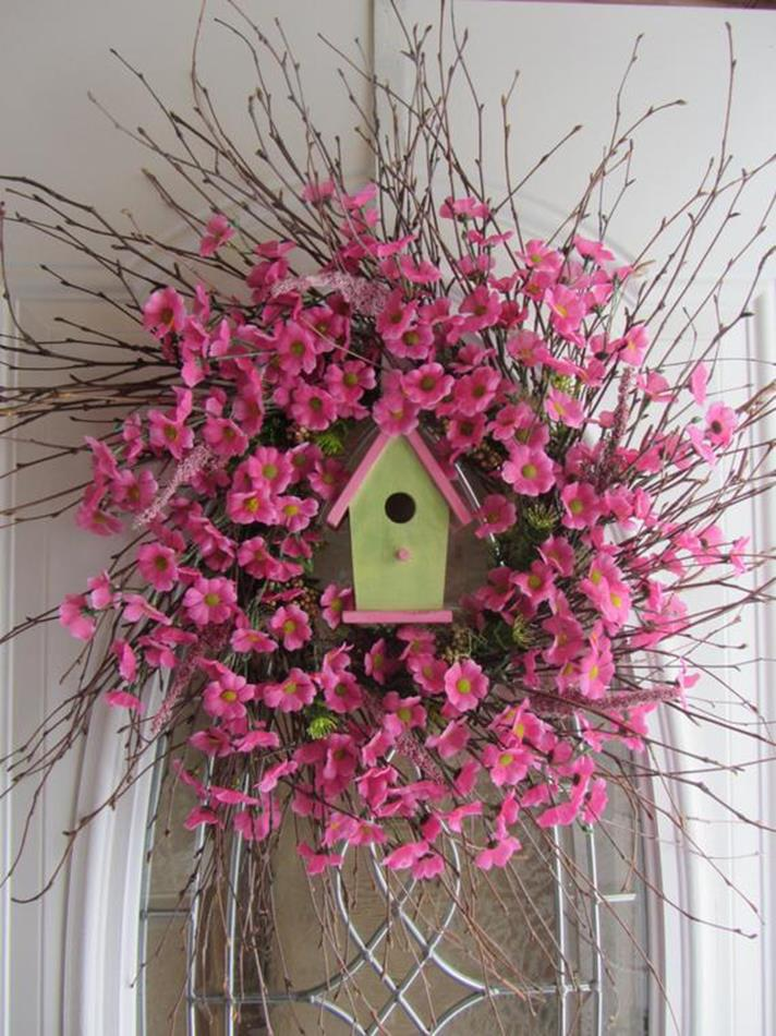 Beautiful Bird Twig Wreath for Your Sweet Home 13