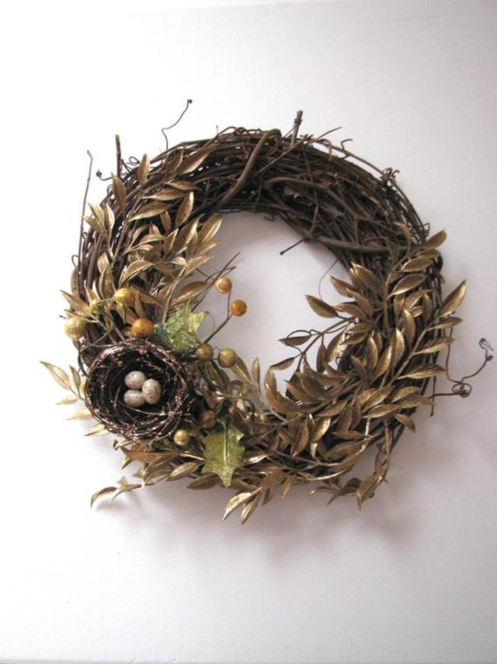 Beautiful Bird Twig Wreath for Your Sweet Home 14
