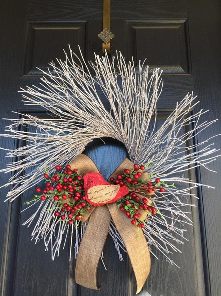 Beautiful Bird Twig Wreath for Your Sweet Home 16