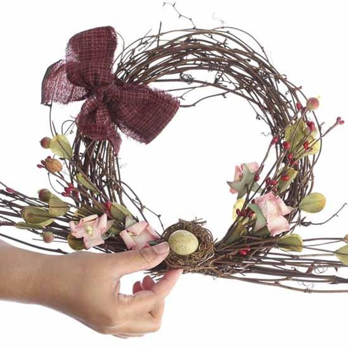 Beautiful Bird Twig Wreath for Your Sweet Home 29