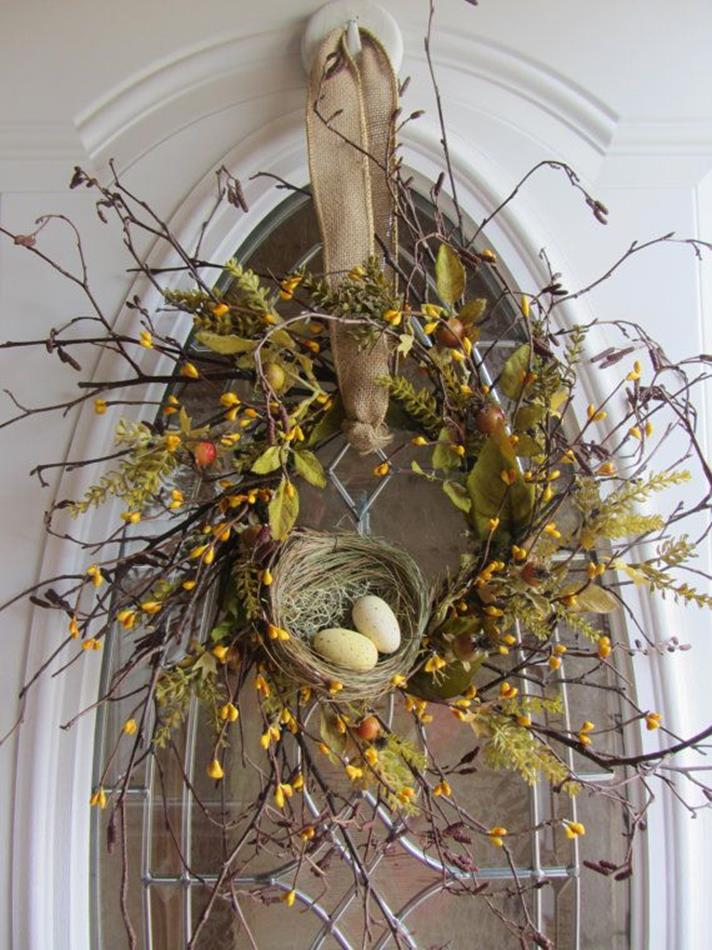 Beautiful Bird Twig Wreath for Your Sweet Home 5