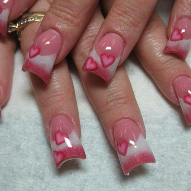 Gorgeous Valentines Day Acrylic Nail Designs 2