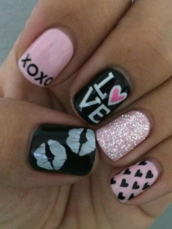 Gorgeous Valentines Day Acrylic Nail Designs 23