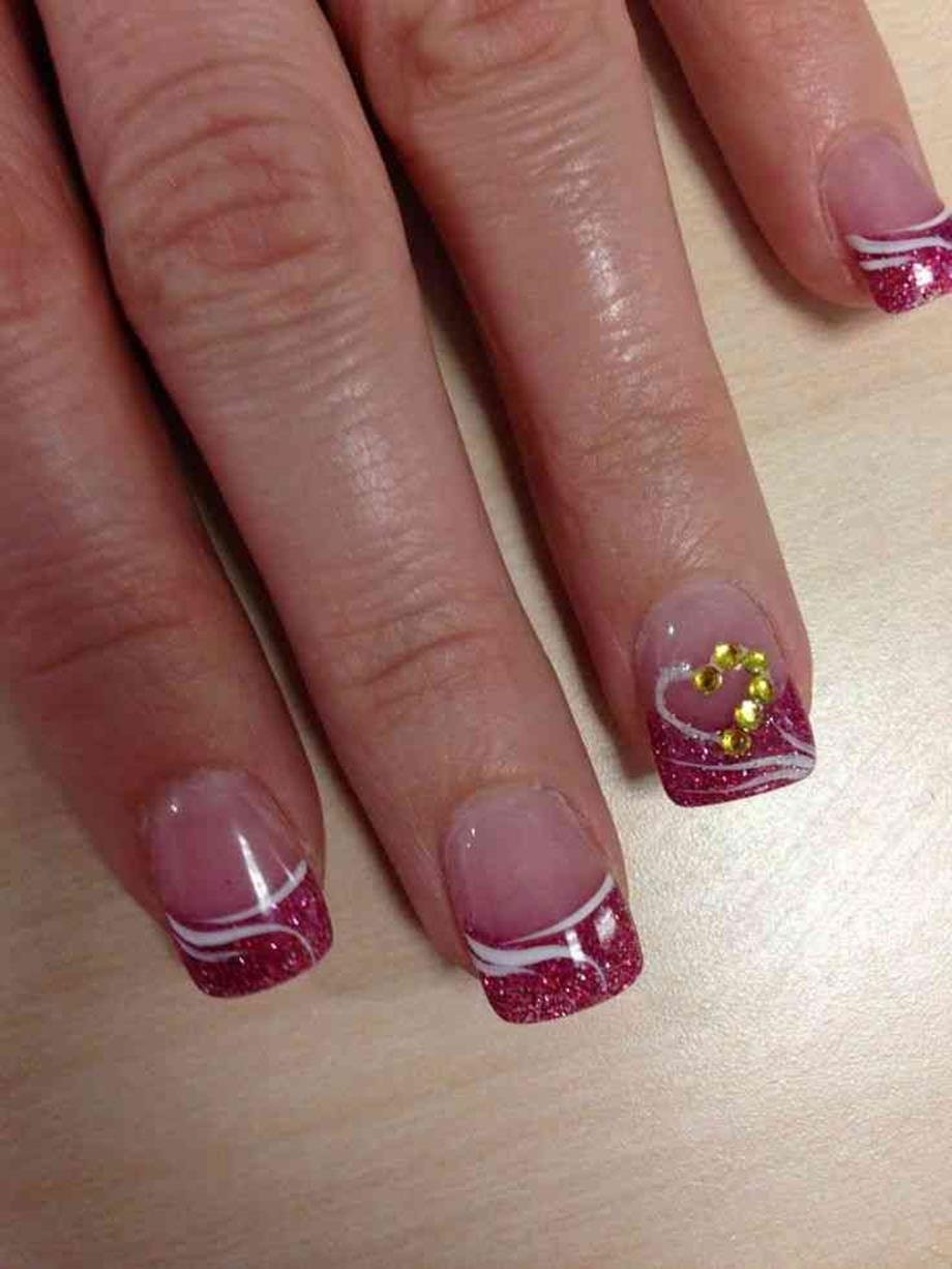 Gorgeous Valentines Day Acrylic Nail Designs 24