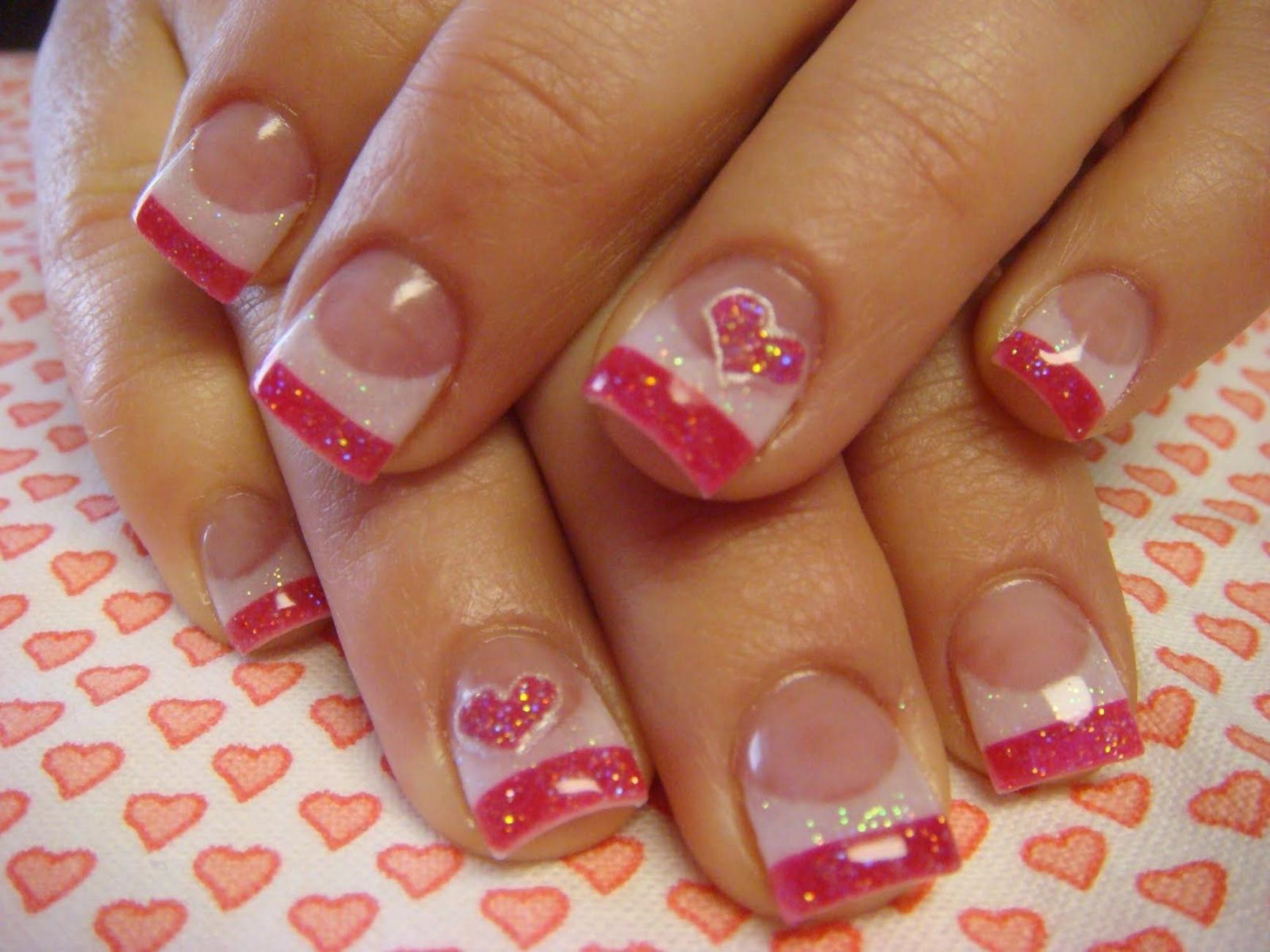 Gorgeous Valentines Day Acrylic Nail Designs 30