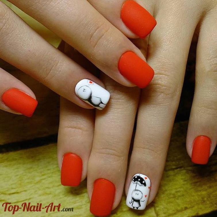 Gorgeous Valentines Day Acrylic Nail Designs 41