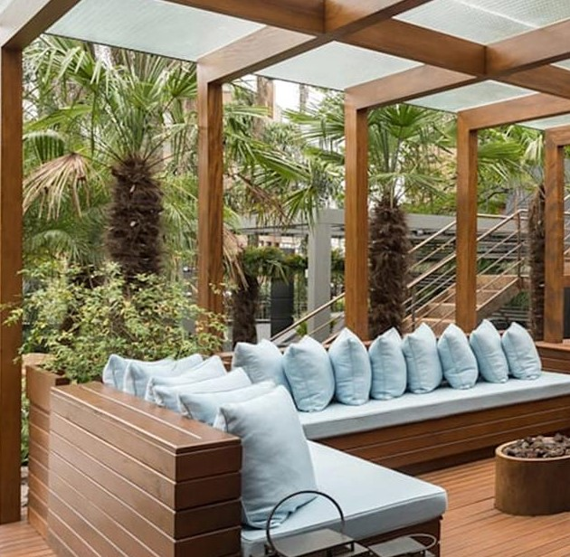 Cozy and Gorgeous Patio Roof with Pergola Glass 1