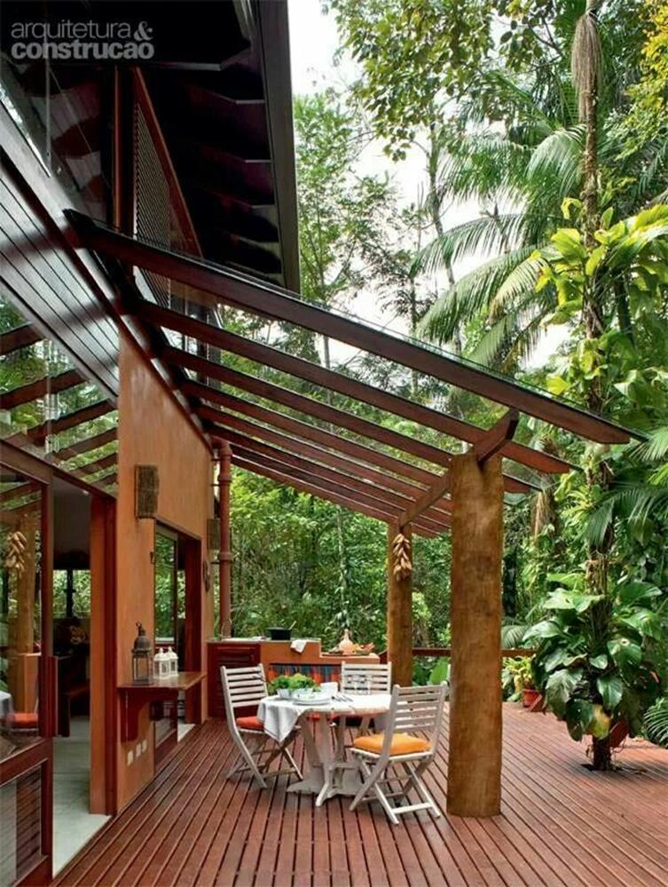 Cozy and Gorgeous Patio Roof with Pergola Glass 25