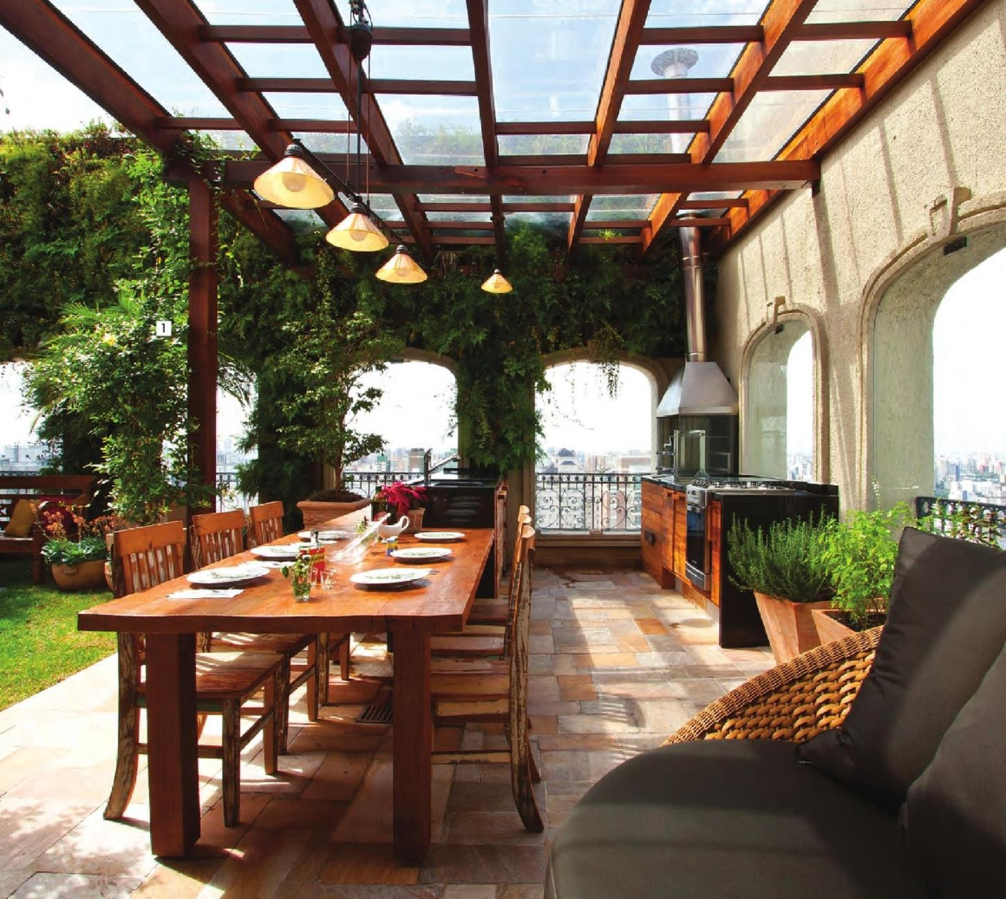 Cozy and Gorgeous Patio Roof with Pergola Glass 4