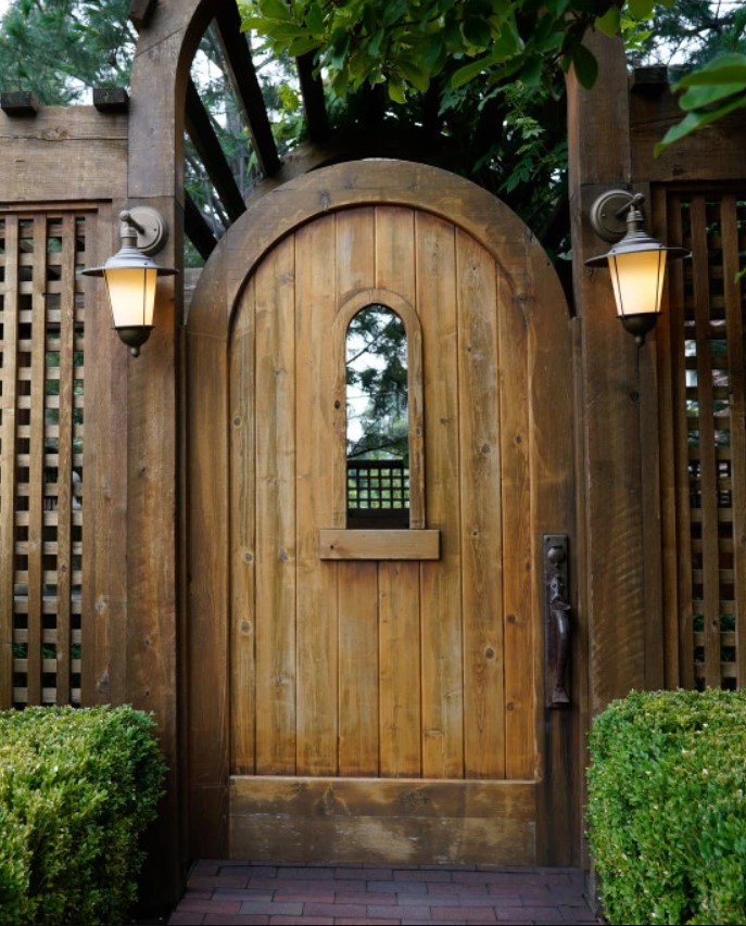Inexpensive Secret Wood Garden Gates 14