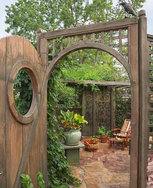 Inexpensive Secret Wood Garden Gates 3