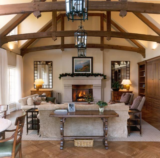 Lovely Family Room Wood Ceiling Design 19