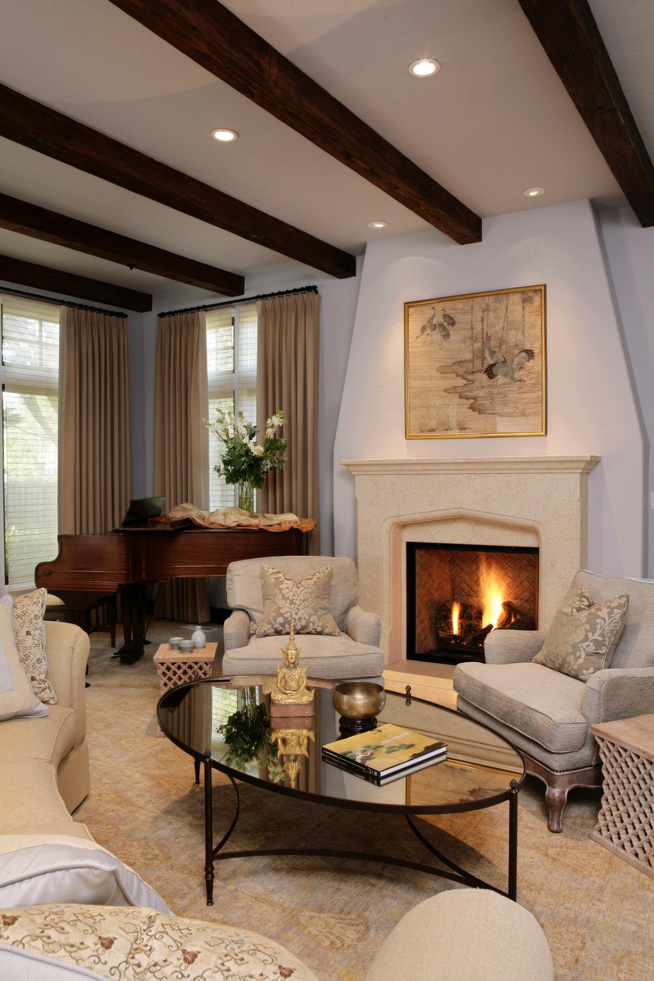 Lovely Family Room Wood Ceiling Design 21