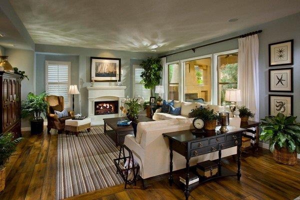 Lovely Family Room Wood Ceiling Design 5