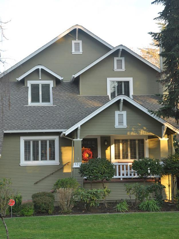 Stunning Exterior House With Brown Roof Colors 8