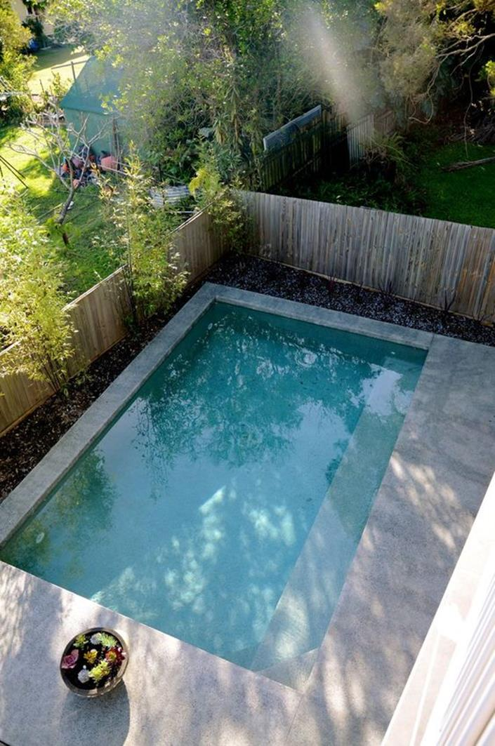 Affordable Small Backyard with Plunge Pool 11