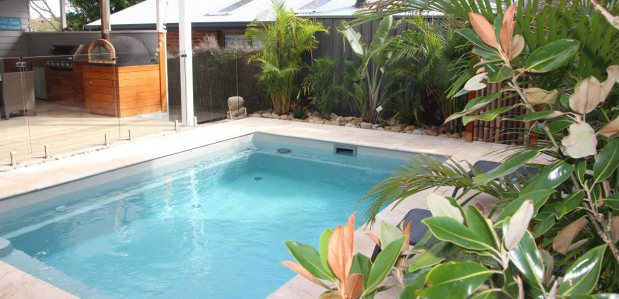 Affordable Small Backyard with Plunge Pool 21