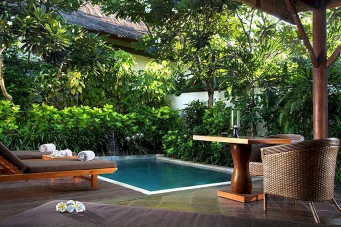 Affordable Small Backyard with Plunge Pool 32
