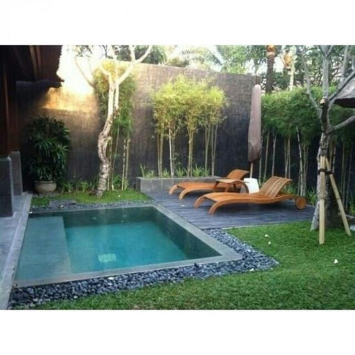 Affordable Small Backyard with Plunge Pool 34