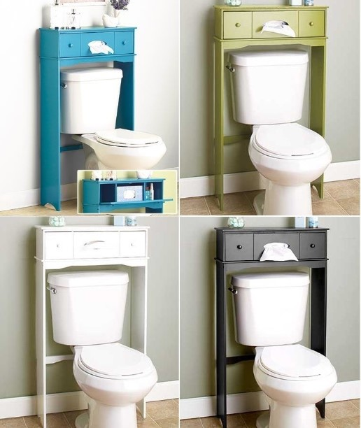 Bathroom Space Saver Storage Over the Toilet Cabinet Shelve Organizer Wall Mount