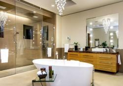 Beautiful Bathroom with Crystal Chandelier 14