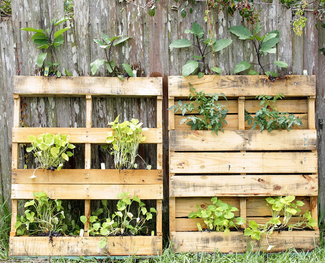 Upcycled Wood Pallet Gardens 14