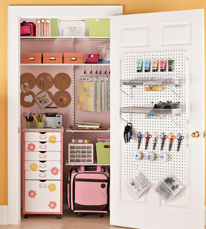 Craft Room Storage Organization Ideas On a Budget 1