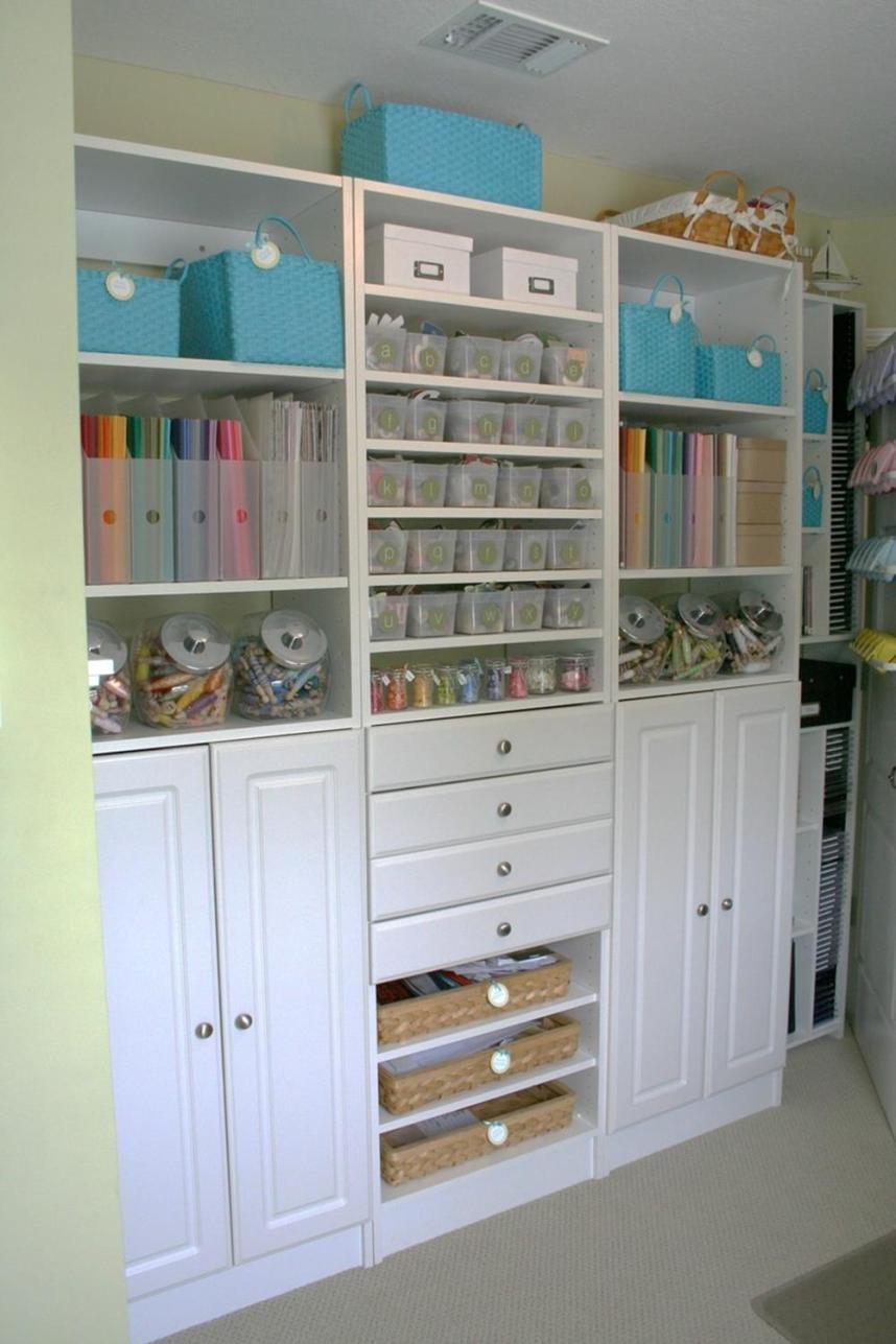 Craft Room Storage Organization Ideas On a Budget 36