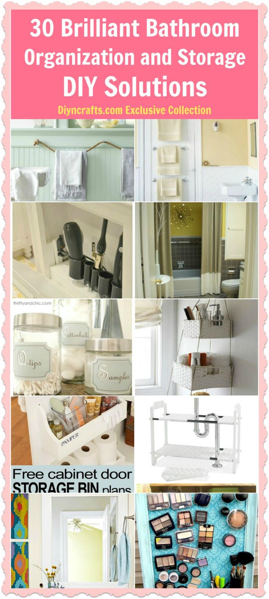 DIY Bathroom Organization Ideas On a Budget 3