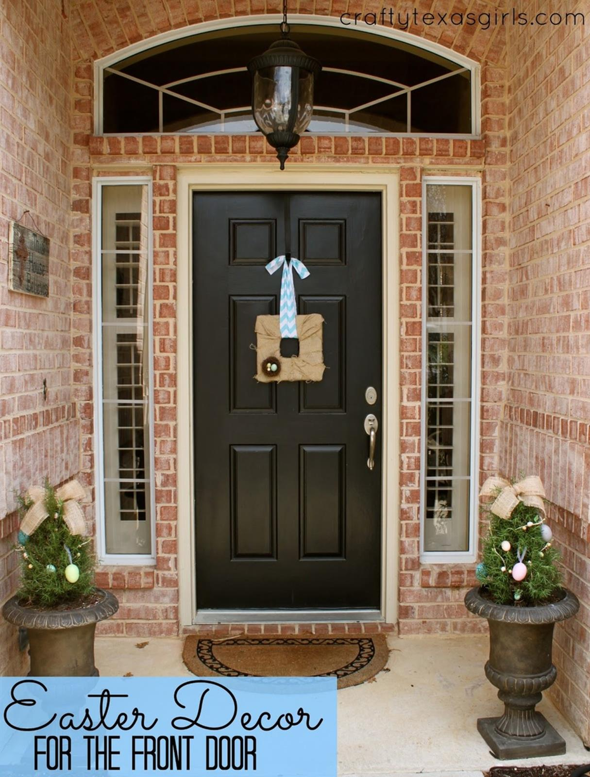 DIY Front Door Easter Decorating Ideas 1