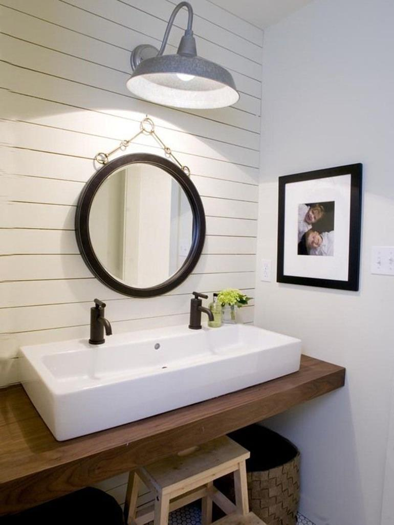 Farmhouse Style Bathroom Sink Ideas 11