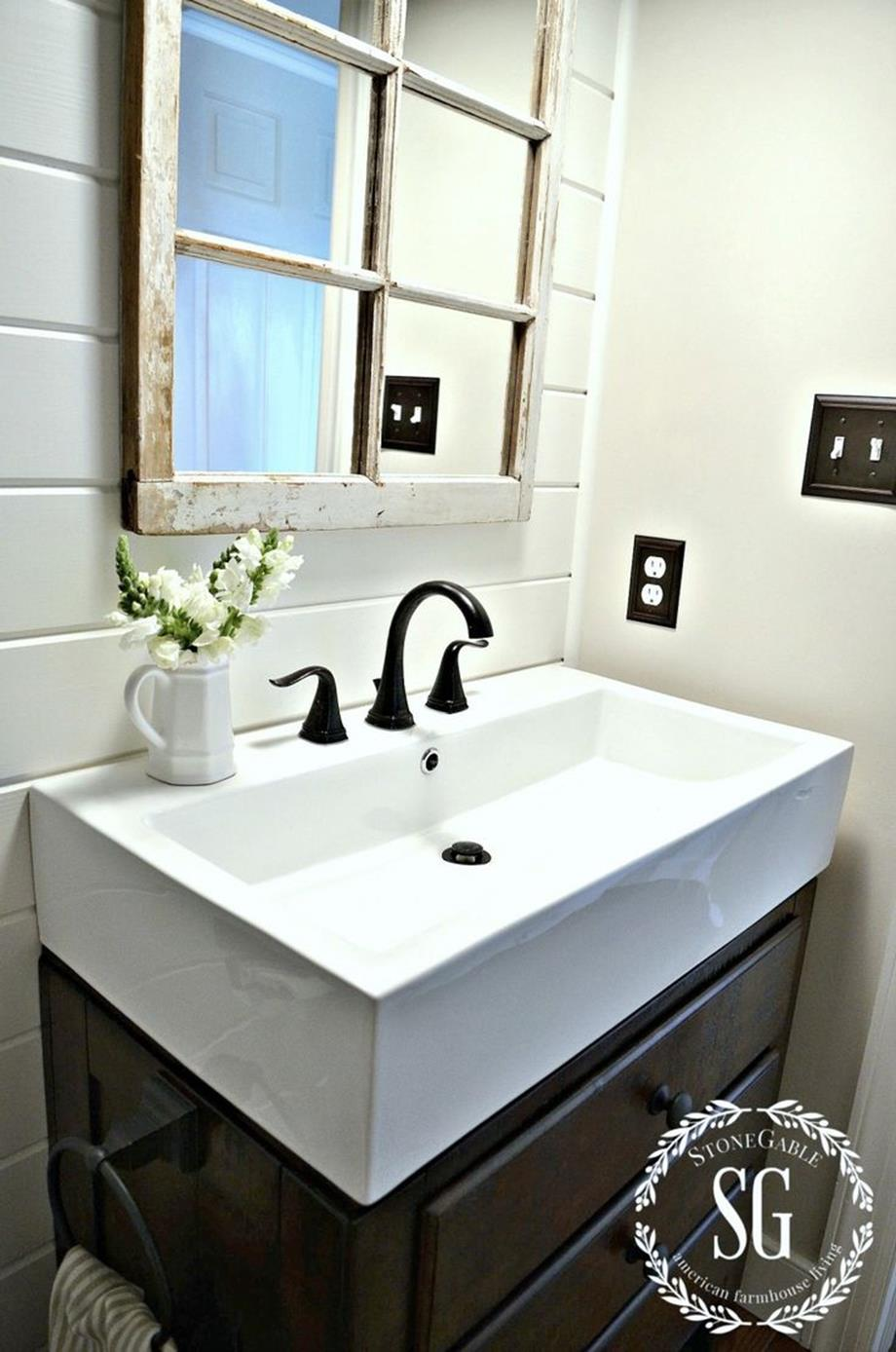 Farmhouse Style Bathroom Sink Ideas 15