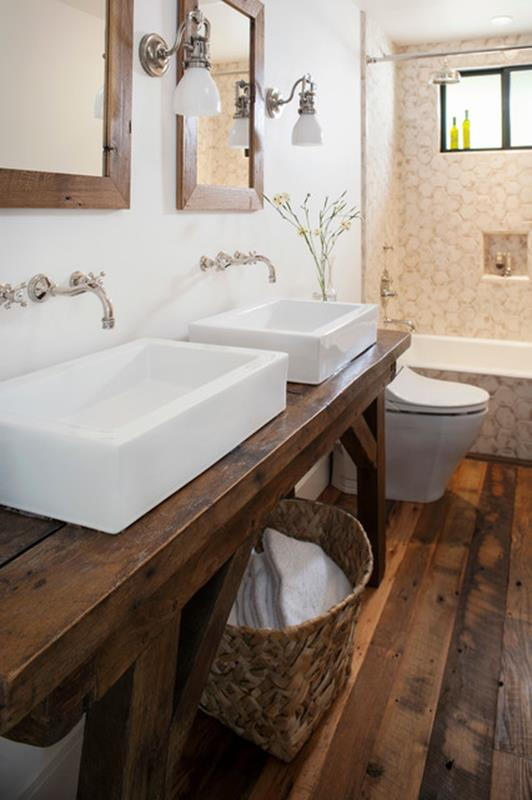Farmhouse Style Bathroom Sink Ideas 29